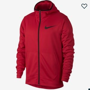 Men's Nike red zip hoodie